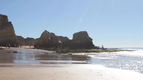 Vau's Beach in Portimao Footage