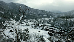 Snowing Sirakawa-go 4K0217-0468 Footage