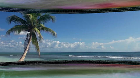 Entertainment TV Studio Set 47 - Virtual Green Screen Background Loop Animation