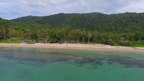 Aerial video of beauty Bamboo beach in Thailand Footage