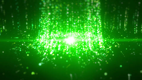 SHA Particle Emission From Center Image Green Animation