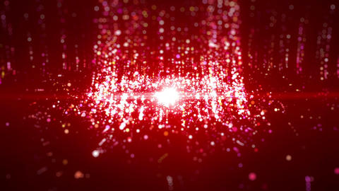 SHA Particle Emission From Center Image Red Animation
