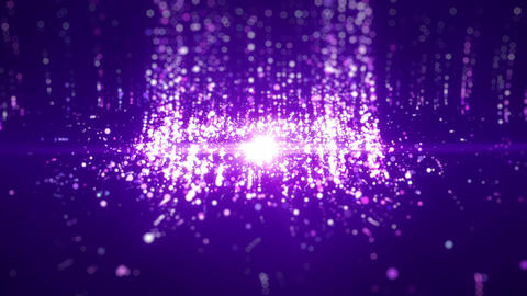 SHA Particle Emission From Center Image Violet Animation