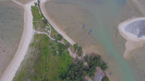 Aerial video of cape and sea in Khao Lak Footage