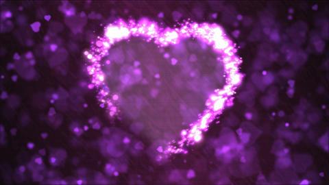Heart Shape Motion Background Animation - Loop Purple Animation