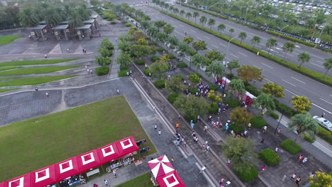 DJI P4 Taiwan Tainan Aerial Video 2016 Xinshi Road Running Association 20160925  Live Action