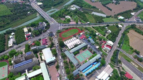 DJI P3A Taiwan Tainan Aerial Video Yu Jing Local police station 20160409 -2 Footage
