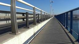 Crossing a Bridge in Portimao Stock Video Footage