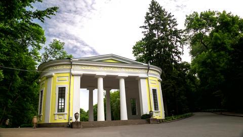 Timelapse in Arboretum Sofiyivka Park, Ukraine. 4k footage Footage
