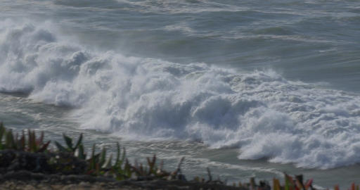 Beautiful And Huge Waves, Atlantic Ocean - Native Material Footage