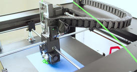 Working 3D printer 4k video. Printing model. Additive manufacturing device Filmmaterial