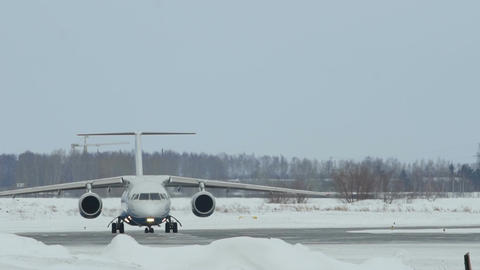 Angara Airways AN-148 taxis to runway Footage