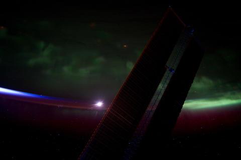 Ungraded: Aurora Borealis Over North American Horizon Footage