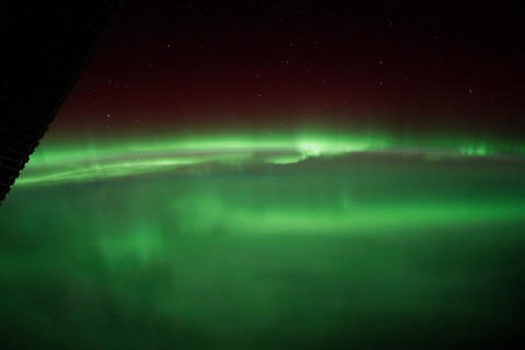 Ungraded: Aurora Borealis Over Great Lakes and Canada Footage