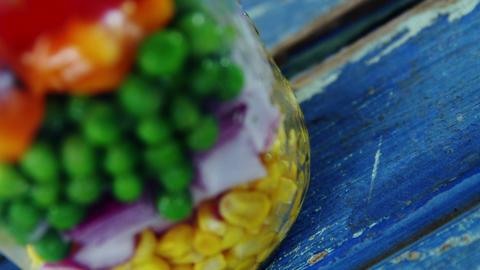 Preserved vegetables in jar Live Action