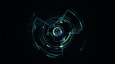 Futuristic abstract Hud CG動画素材