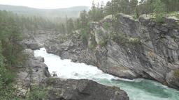 Ridderspranget rapids in river Sjoa, Norway Stock Video Footage