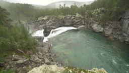 Ridderspranget rapids in river Sjoa, Norway Footage
