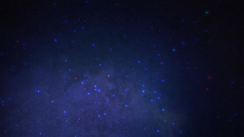 Starry night sky Animation