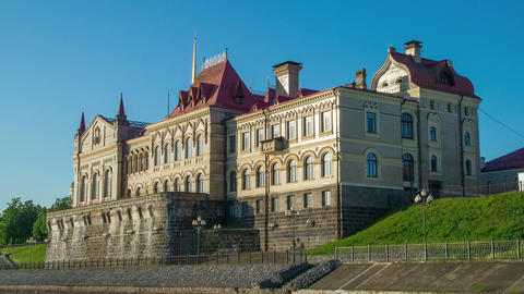 The old castle Museum in Rybinsk on the river Volga in the summer Footage