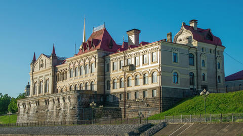 The old castle Museum in Rybinsk on the river Volga in... Stock Video Footage
