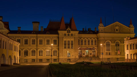 Museum of the city of Rybinsk night Stock Video Footage