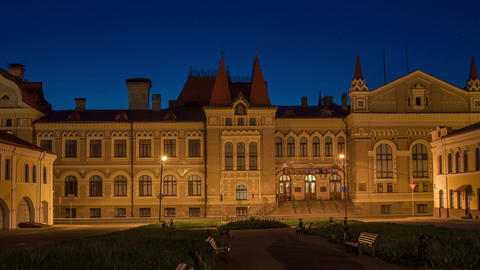 Museum of the city of Rybinsk night Footage