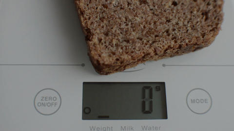 Electronic digital kitchen scale Footage