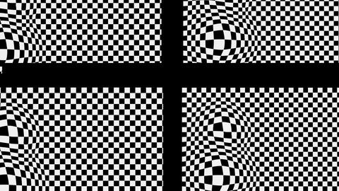 The black cross on the black and white basis with effect bulge Animation