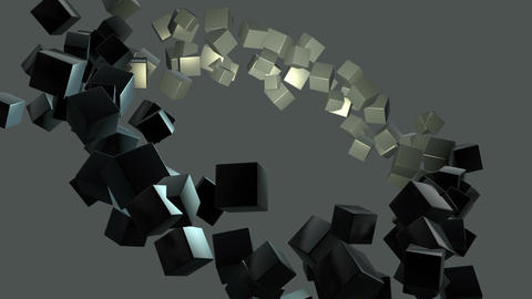 Background effect of many flying cubes in green . This video clip is 15 seconds  Animation