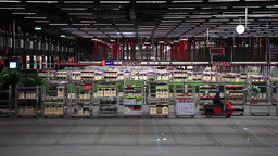 Auction floor at Aalsmeer floraholland largest flower auction the the Footage
