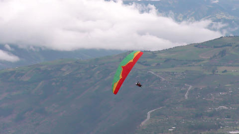 dual or tandem paragliding acrobatics fast diving Footage