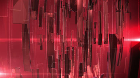 Abstract Technology Background with lens flare. Red colors Animation