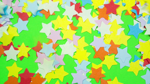 Stars Shapes on a Green Screen Footage