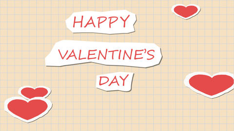 Paper Valentine CG動画素材