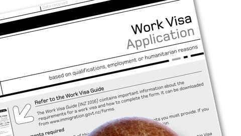 work visa application document for temporary stay with… Stock Video Footage