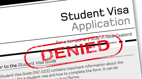 Student visa application document for temporary stay with…, Stock Animation