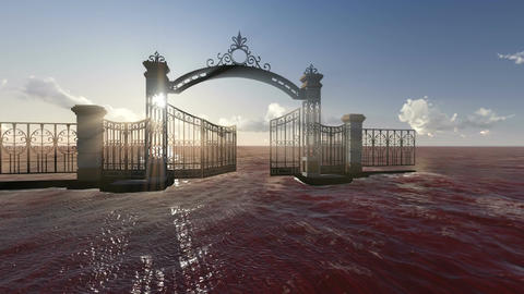 Gate to heaven made in 3d software, Stock Animation
