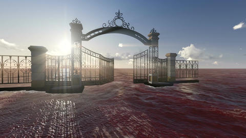 Gate to heaven made in 3d software Animation