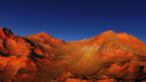 No Mans Land - A fly-through animation showing a lifeless rocky exoplanet bathed Animation
