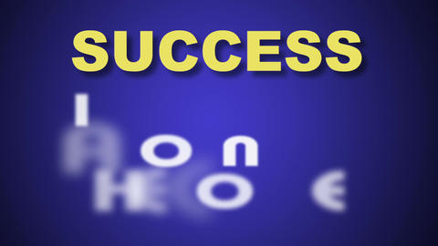 words success is just around the corner Animation