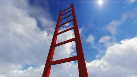 Ladders showing the pathway to the top made in lumion Animation