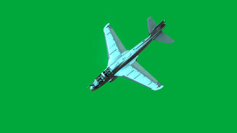 Airplane in flight - green screen Animation