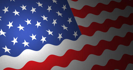 American flag with small ripples Animation