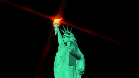 Digital Animation of the Statue of Liberty Stock Video Footage