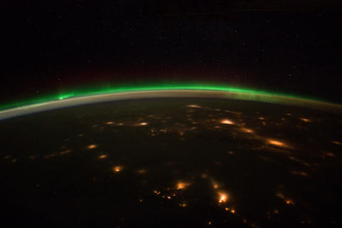 Ungraded: Aurora Borealis Over Northern North America and Canada Footage