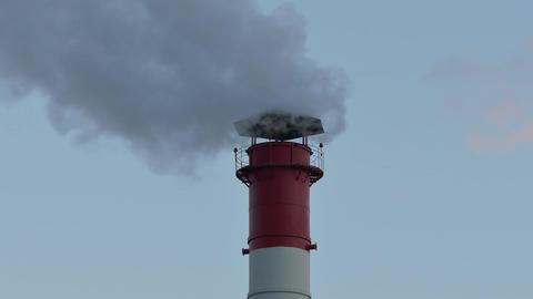 1080p Chimney Smoke / Smoke Stack / Air Pollution Footage