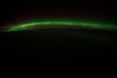 Ungraded: Aurora Borealis Over Pacific Ocean Footage