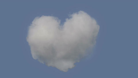 Perfect Heart Shaped Cloud For All The Romantics Footage