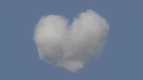 Perfect Heart Shaped Cloud For All The Romantics Stock Video Footage